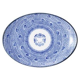 タイスキ 7吋プラター 中華食器 プラター(M) 業務用 楕円皿 日本製 磁器 約19cm 小さ目 中華皿 餃子皿 ギョーザ皿 餃子用 楕円プレート 小判皿 オーバル