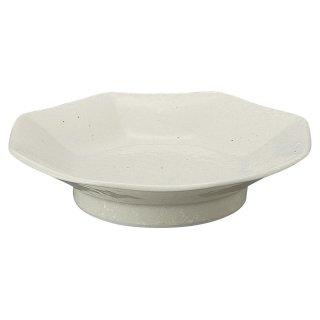 中華粉引 八角シューマイ皿 中華食器 八角皿 業務用 日本製 磁器 約18.8cm チャーハン シュウマイ シューマイ 中華皿 プレート スタンダード