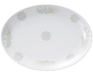 北京 12吋プラター 皿 プレート 中華食器 プラター(L) 業務用 楕円皿 日本製 磁器 約31.5cm 中華皿 大皿 盛皿 バイキング ビュッフェ ホテル 旅館 宴会皿