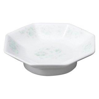 夢彩華 八角高台皿 中華食器 八角皿 業務用 日本製 磁器 約18.9cm チャーハン シュウマイ シューマイ 中華皿 プレート 伝統的 昔懐かし