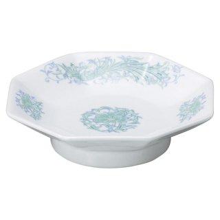 翔花鳳 八角高台皿 中華食器 八角皿 業務用 日本製 磁器 約18.9cm チャーハン シュウマイ シューマイ 中華皿 プレート 伝統的 昔懐かし