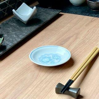 三色牡丹 3.0丸皿 中華食器 小皿・タレ皿 業務用 日本製 磁器 約10cm たれ皿 餃子用 ギョーザ用 漬物用 キムチ用 ザーサイ用 シューマイ用 昭和レトロ 定番 スタンダード