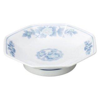 三色牡丹 八角高台皿 中華食器 八角皿 業務用 日本製 磁器 約18.5cm チャーハン シュウマイ シューマイ 中華皿 プレート 伝統的 昔懐かし