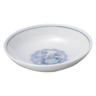 三色牡丹 4.0丸深皿 中華食器 取皿 業務用 日本製 磁器 約13cm 取り皿 小皿 レトロ おしゃれ