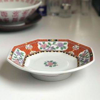 紅花祥 八角皿 中華食器 八角皿 業務用 日本製 磁器 約18.5cm チャーハン シュウマイ シューマイ 中華皿 プレート 伝統的 昔懐かし