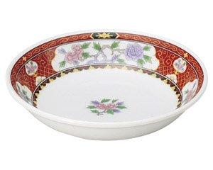 紅花祥 4.5深皿 中華食器 取皿 業務用 日本製 磁器 約14.2cm 取り皿 小皿 レトロ おしゃれ セットサラダ