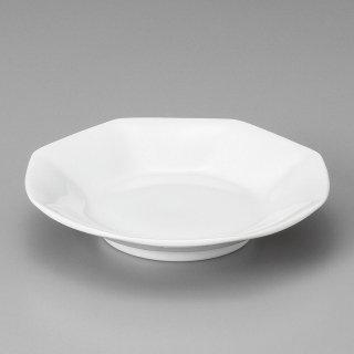 白中華八角シュウマイ皿 中華食器 八角皿 業務用 日本製 磁器 約18.5cm チャーハン シュウマイ シューマイ 中華皿 プレート シンプル 白い器