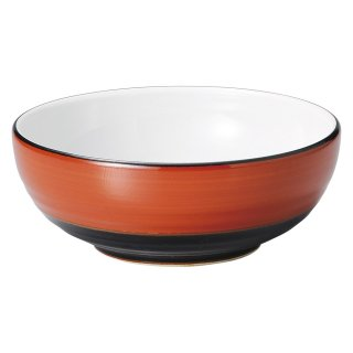 敦煌 6.5腰張丼 中華食器 ボール(L) 業務用 日本製 磁器 約20cm ラーメン丼 ラーメン鉢 どんぶり 麺鉢 めん鉢 ビビンバ ボウル
