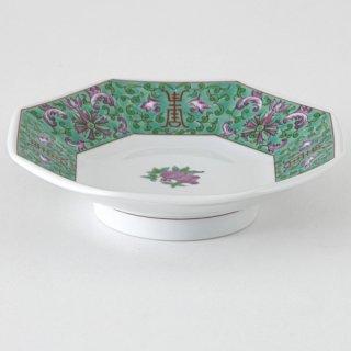 緑彩宝華 八角皿 中華食器 八角皿 業務用