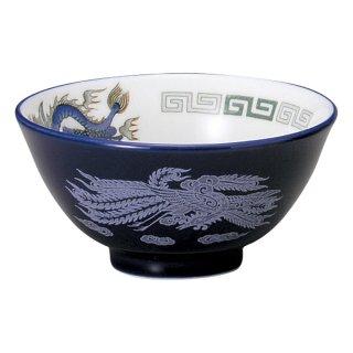 ルリ白竜 汁碗 中華食器 スープ碗・スープボール 業務用 日本製 磁器 約11.5cm スープ用 セットメニュー用 清湯 フカヒレスープ たまごスープ わかめスープ 取り分け用 中国料理