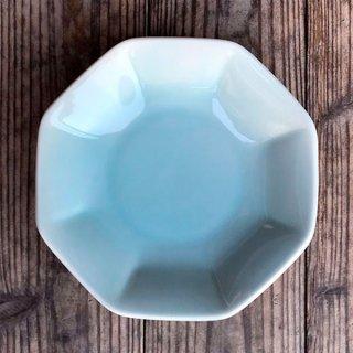 青磁中華 6.5八角シューマイ 中華食器 八角皿 業務用 日本製 磁器 約18.8cm チャーハン シュウマイ シューマイ 中華皿 プレート シンプル アジアン カネスズ