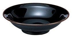 うるし天目 8.0丸高台 カネスズ 中華食器 丸高台皿 業務用 日本製 黒系 磁器 約24.8cm 大き目 大盛り 中華皿 天津飯 中華飯 マーボー飯 シンプル 定番