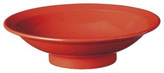 赤釉7.0丸高台 カネスズ 中華食器 丸高台皿 業務用 日本製 磁器 約21.1cm 1人前用 中華皿 天津飯 中華飯 マーボー飯 おしゃれ スタイリッシュ シンプルモダン 人気