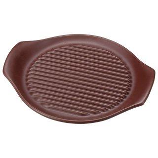 耐熱直火食器26cmヘルシーステーキ皿 鉄赤 耐熱 直火 中華食器 ビビンバ・石焼プレート 業務用