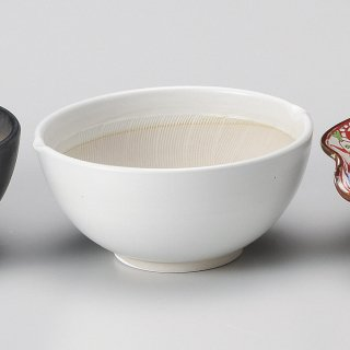 白マット波紋櫛目丸型6.5寸すり鉢 和食器 すり鉢関連 業務用