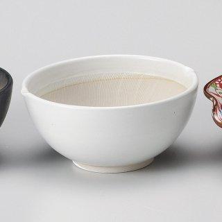 白マット波紋櫛目丸型4.2寸すり鉢 和食器 すり鉢関連 業務用