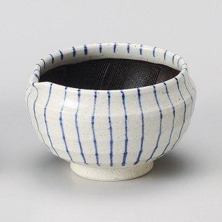 呉須十草片口丸4.5スリ鉢 和食器 すり鉢関連 業務用
