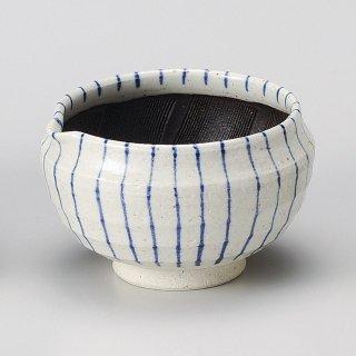 呉須十草片口丸3.5スリ鉢 和食器 すり鉢関連 業務用