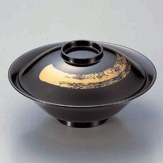 5.3寸平富士煮物椀 黒一筆 漆器 煮物椀・雑煮椀 業務用