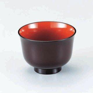 百合汁椀 溜内朱 漆器 汁椀 業務用