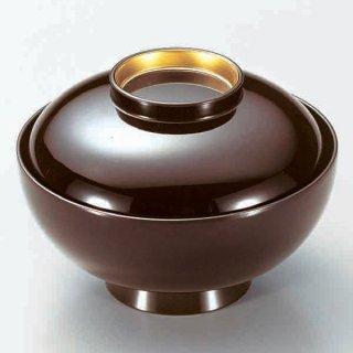 4.2寸仙才丸椀 溜つば金 漆器 煮物椀・雑煮椀 業務用