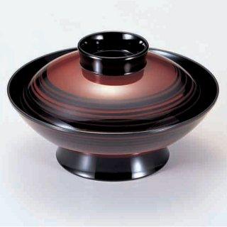5.5寸羽反煮物椀 溜筋目塗り分け 漆器 煮物椀・雑煮椀 業務用