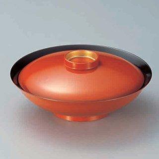 8寸平羽反煮物椀 朱つば金 漆器 煮物椀・雑煮椀 業務用