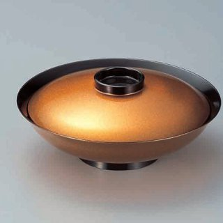 8寸平羽反煮物椀 金梨地つば黒 漆器 煮物椀・雑煮椀 業務用