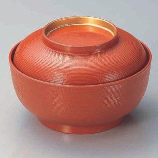 5寸千筋木目椀 洗朱つば金 漆器 煮物椀・雑煮椀 業務用