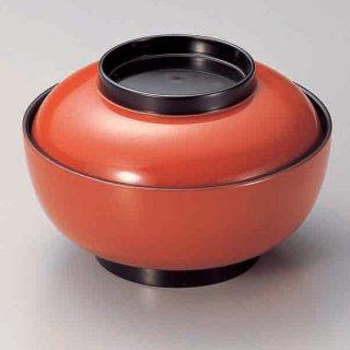 5.5寸深型椀 朱つば黒 漆器 煮物椀・雑煮椀 業務用
