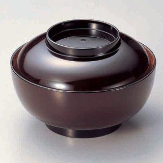 5.5寸深型椀 瑠内朱つば黒 漆器 煮物椀・雑煮椀 業務用