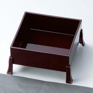 4.5寸角足付前菜箱 本体 新溜 漆器 珍味台・珍味箱 業務用