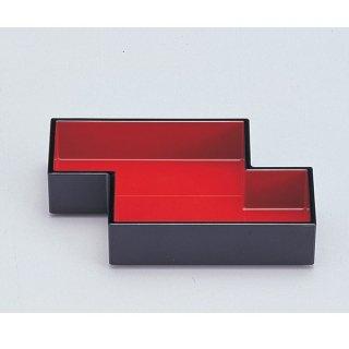 5.5寸筏珍味箱 黒内朱 漆器 楕円・変型盛器 業務用