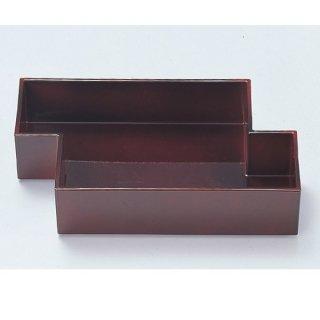 筏盛箱 溜底黒塗 漆器 楕円・変型盛器 業務用
