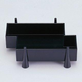 足付筏盛箱 黒 漆器 楕円・変型盛器 業務用
