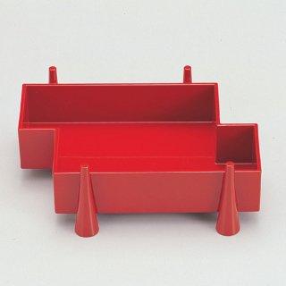 足付筏盛箱 朱 漆器 楕円・変型盛器 業務用