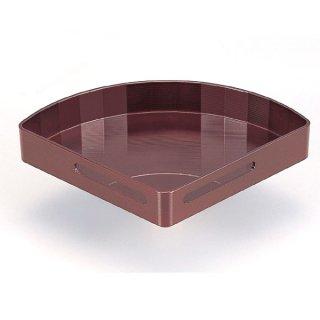小 扇面透かし盛器 溜 漆器 楕円・変型盛器 業務用