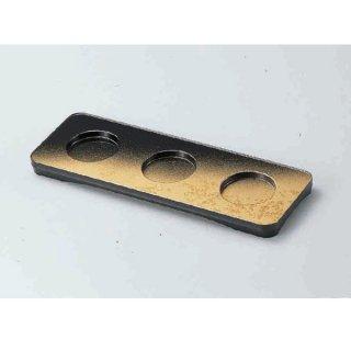 三点珍味台 パール色紙金箔 漆器 珍味台・珍味箱 業務用