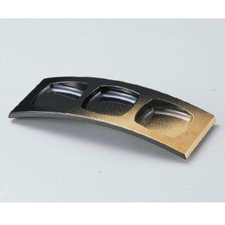 3連珍味台 パール色紙金箔 大 漆器 珍味台・珍味箱 業務用