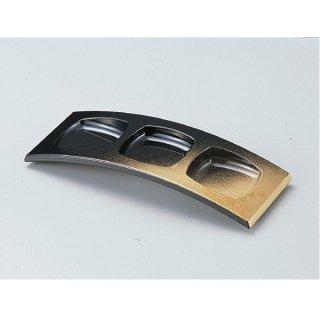 3連珍味台 パール色紙金箔 小 漆器 珍味台・珍味箱 業務用