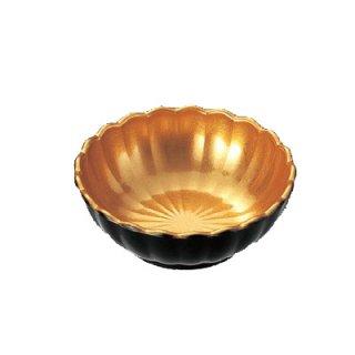 3寸菊型鉢 金雅 漆器 小鉢 業務用