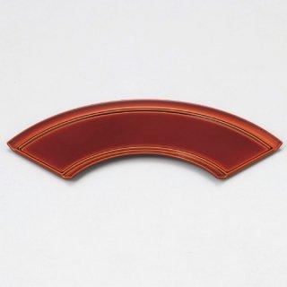 扇面前菜皿 漆調春慶裏黒塗 漆器 楕円・変型盛器 業務用