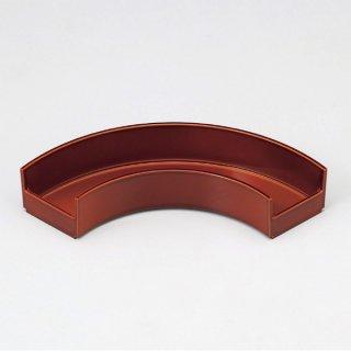 扇面色彩盛器 漆調春慶裏黒塗 漆器 楕円・変型盛器 業務用