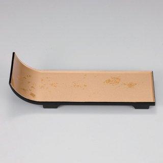 短冊盛器 色紙金箔 渕黒 小 漆器 楕円・変型盛器 業務用