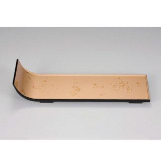 短冊盛器 色紙金箔 渕黒 大 漆器 楕円・変型盛器 業務用