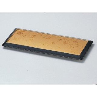 ダイヤ盛皿 色紙金箔渕黒底黒塗 漆器 長角盛皿 業務用