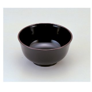 羽反型丼 黒天うるみ6寸 漆器 丼 業務用