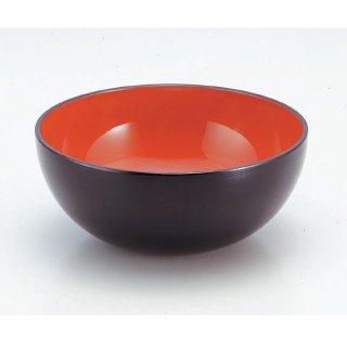 7寸大鉢黒刷毛目内朱 漆器 めん鉢・鉄鉢 業務用