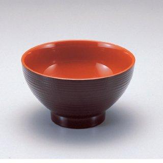 5寸乱筋木目丼 新溜内朱 漆器 めん鉢・鉄鉢 業務用