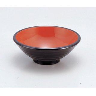 うどん鉢黒刷毛目内朱 漆器 めん鉢・鉄鉢 業務用